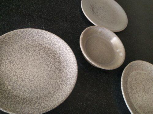 4 PC GRAY DUDSON EVO ORIGINS PLATES OLIVE DISH BOWL SAUCE RESTAURANT WARE
