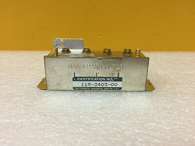 Tektronix 119-2403-00 Band Pass Filter. For 492 49x Spectrum Analyzers. Tested