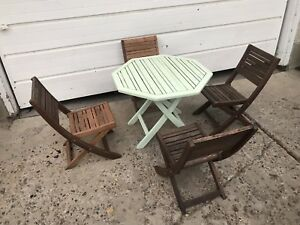 Refinished Kids Wooden Table & Chair Set