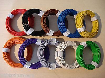 ( 0,11 €/m) 10 m  Kabel Litze Schaltlitze Kupferlitze 0,14 mm² freie Farbwahl