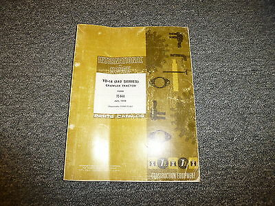 International Harvester Td14 142 Series Crawler Tractor Parts Catalog Manual