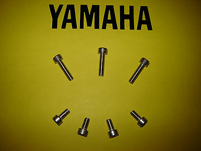 <em>YAMAHA</em> YZF R6 STAINLESS PETROL FUEL TANK FILLER CAP ALLEN SCREW KIT 20