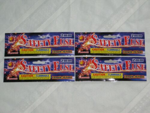 (4) CANNON FUSE HOBBY FUSE LABELS (labels say 2mm -  15 feet)