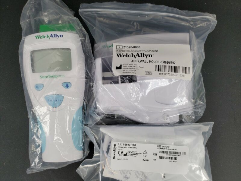 Welch Allyn SureTemp Plus Digital Thermometer 690 + Probe & Covers 01690-300 NEW