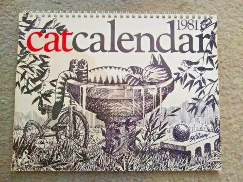 Vintage 1981 Cat Calendar,  Illustrations by B.Kliban.