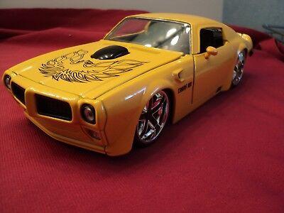 Jada 1972 Pontiac Trans Am  Firebird  1/24 scale new no box 2015 release yellow