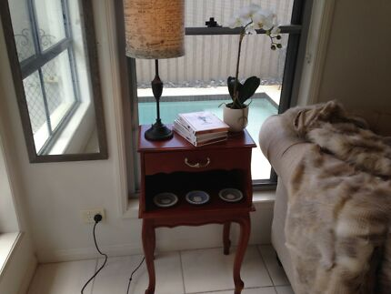 French style lamp/side or bedside table with drawer