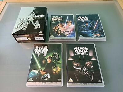 STAR WARS THE ORIGINAL TRILOGY 4 DISC DVD BOX SET COMPLETE GOOD CONDITION
