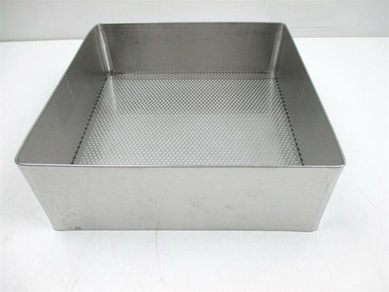 "Surgical Stainless Steel Tray Perforated Mesh Bottom 10"" x 10 1/2"" Weck Pilling"