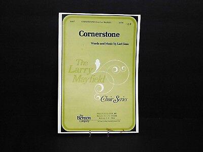 "1976 Choir Music ""Cornerstone"" by Lari Goss Larry Mayfield Choir Series Ex. Cond"