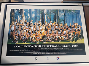 Collingwood Football club 1994 team photo and frame Yarraville Maribyrnong Area Preview