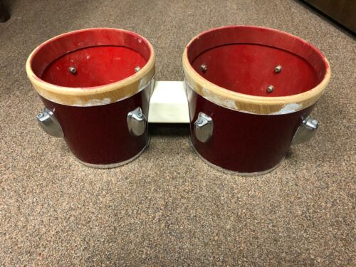 Bongo Drum Shells - Red Sparkle