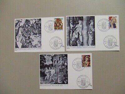 Three Belgium ART maxi cards.