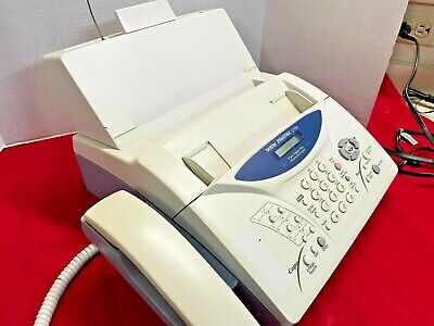 Brother Fax 1270e Inkjet Fax Machine With Built-in Telephone Print - Powers On