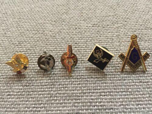 Lot of (5) Khedive/FOE/Mason Pin Lot