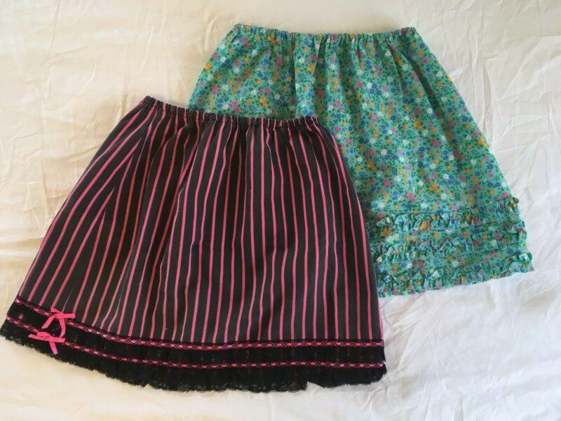 Two vintage Van Raalte Juniors slips sz 13