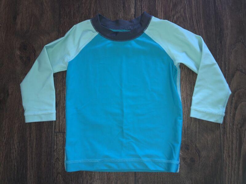 Tea Collection ~ Boys Blue Toddler Swim Shirt Rashguard ~ Size 12-18 Months