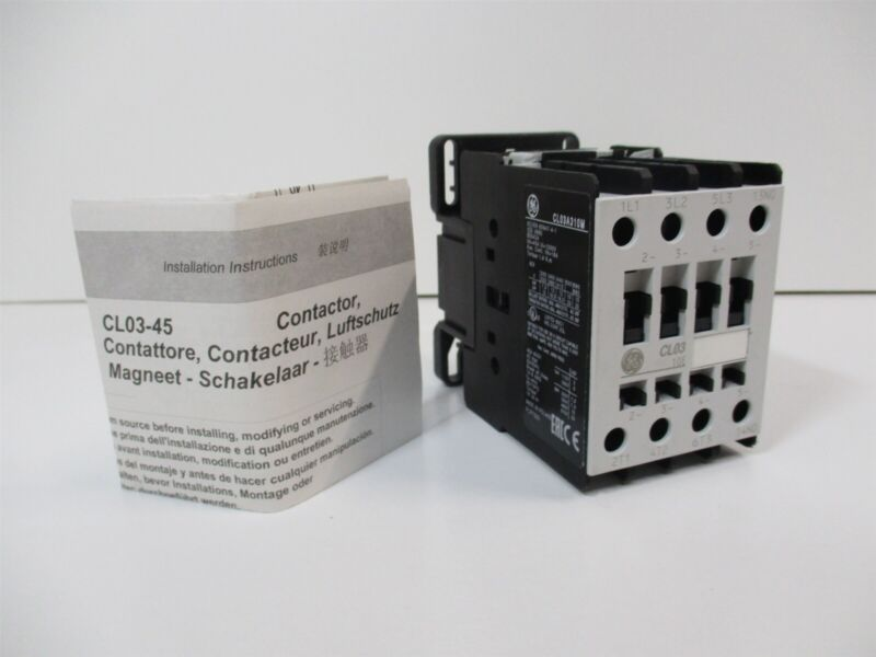 General Electric CL03A310M7 Contactor 240V 50/60Hz Coil 109395 AC3 Rating