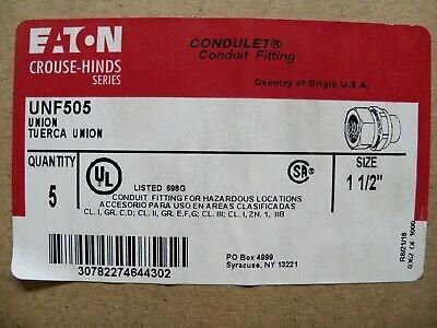 5 Eaton Crouse Hinds Unf505 Condulet 1-12 Conduit Female Union Box Of 5