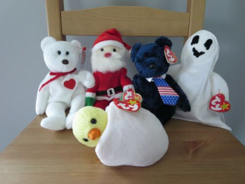 Ty Beanie Babies Batch of 5 Holiday creatures, (lot 15),  Mint w/ Tag