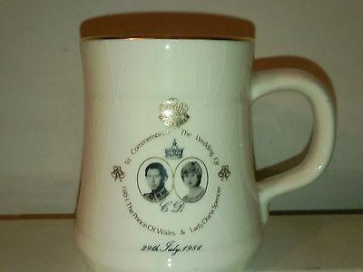 Prince Charles and Diana Royal Wedding Mug 1981 Prinknash Pottery