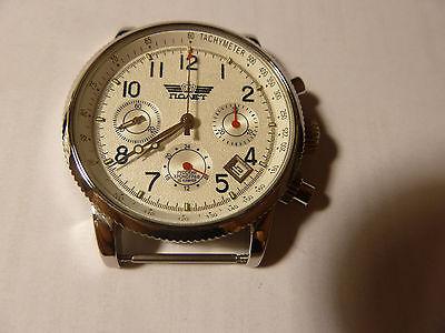 NEW PILOT Watch Russia 31679 Chronograph Poljot Mechanical Military Aviator #2
