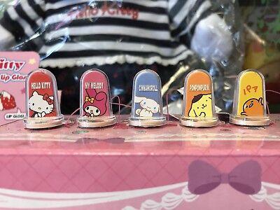 Sanrio Hello Kitty My Melody Gudetama Purin Cinnamoroll Trinket 5pc Stamp ()