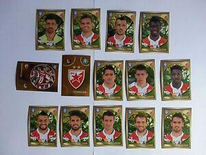 Panini FIFA 365 - 2017 FK CRVENA ZVEZDA 310-323 14 extra stickers SLO edit. MINT