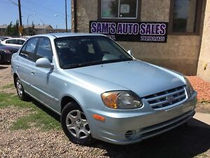 2003 HYUNDAI ACCENT LOW KM 7 MONTH POWER TRAIN WARRANTY