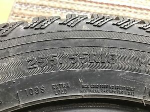(4) 255/55R18 winter tires