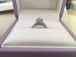Michael hill engagement ring and band