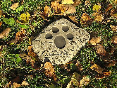 a beloved pet cat/dog memorial stone garden ornament  <<VISIT MY SHOP>> Beloved Pet Memorial Stone
