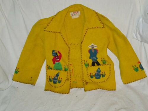 Vintage Lopez Children's Jacket Made in Mexico Wool  Long Sleeve Cute