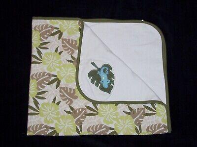 - Gymboree Tropical Trek Lizard Gecko Leaf Baby Blanket 2005 Security Lovey