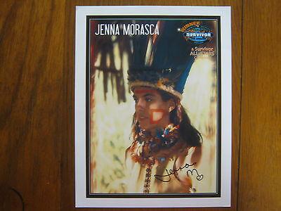 JENNA  MORASCA   Survivor: The  Amazon/Winner  Signed  8 1/2  X 11  Color  Photo
