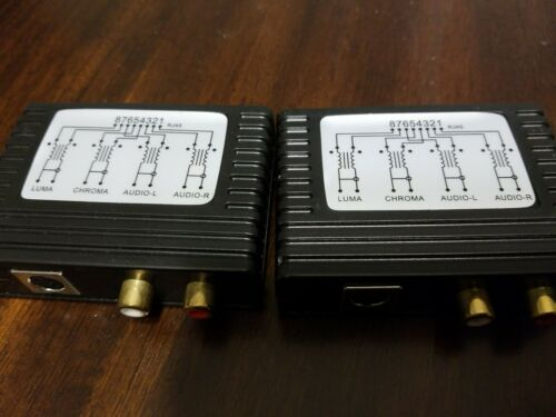 A/V To Cat5 Balun System - Brand New - $4.99