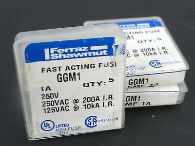 "1x BUSSMANN  Fast Acting Fuse KAX 20 or 25 Amps 250V /""NOS/"""