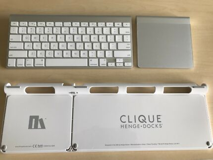 Wireless keyboard and trackpad set