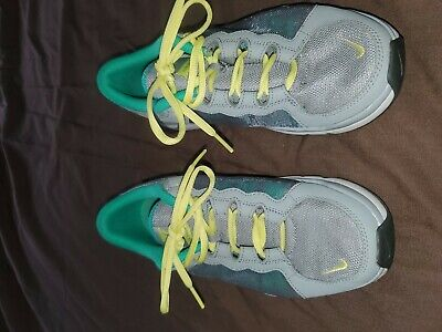 Women's NIKE Flex Trainer II 2 Grey/Teal/Yellow Shoes 511332-013 Size 8US