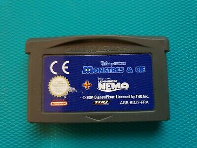 NINTENDO GAMEBOY ADVANCE GBA : disney pixar - Monstres & Cie + Le Monde De Nemo