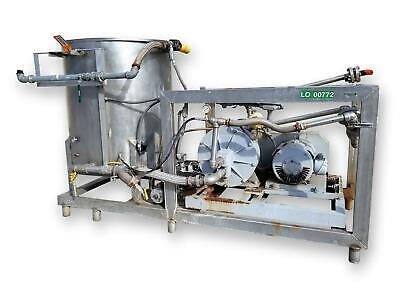 Used Chemidyne Commander Power Wash Cleaning System With 30hp Kobe Roto-jet Pump