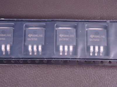Lot Of 5 Ua7815ckttr Texas Instruments Positive Voltage Regulator 15v 1.5a 4 Pin