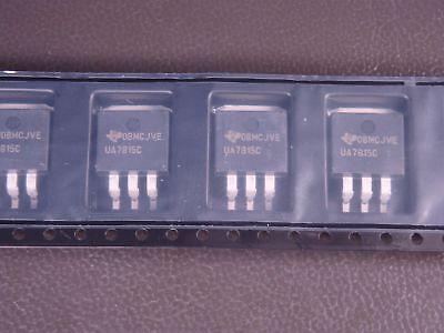 Lot Of 5 Ua7815ckttr Texas Instruments Positive Voltage Regulator 15v 1.5a 4 Pin