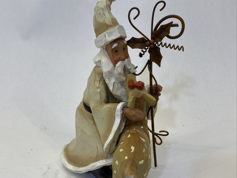 6 inch Santa with Fawn Christmas Figure