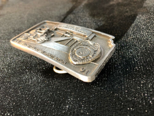Kansas Highway Patrol Limited Ed. Belt Buckle Motorcycle Police 1991 **NEAR MINT