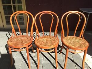 3 bentwood chairs with rattan insert, cafe style chairs Kewdale Belmont Area Preview