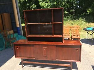 Vintage Teak Sideboard and Hutch