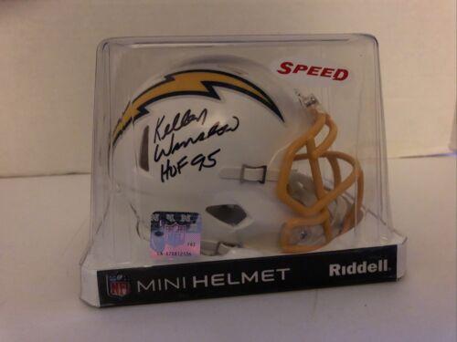Chargers Kellen Winslow HOF 95 Signed 2020 Speed Mini Helmet Beckett Authentic - $28.00
