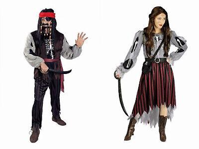 Kostüm Geister Pirat Piratin Damen Herren Piratenkostüm Lumpenpirat Karneval