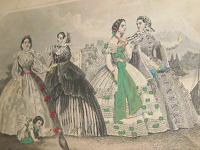 FABULOUS 1860 GODEY'S LADY'S BOOK 1860 LARGE 574 PAGES DOZENS OF PLATES